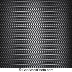 %u0421hrome metal grid with rounded hone - Vector...
