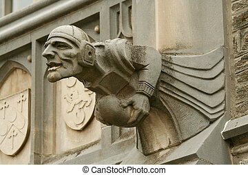gargoyle - A gargoyle on a building in Princeton NJ
