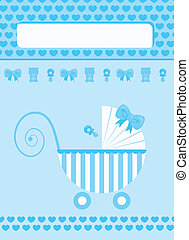 New born baby boy greeting card - New born baby boy blue...
