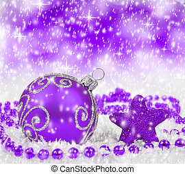 christmas decorations - Purple christmas decorations