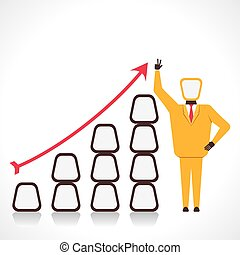 business growth graph - businessmen with business growth...