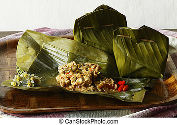 botok tempe - one culinary in Indonesia with basic...