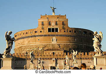 Castel Sant\'Angelo - Frontal view of the Castel...