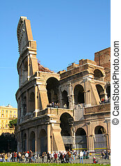Colosseo - Sectional view of the Coliseum in Rome, Italy
