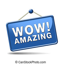 wow amazing sign - awesome icon or wow sign excellent and...