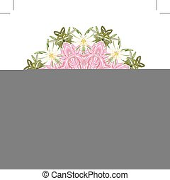 Floral frame circle for your design
