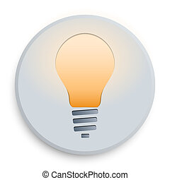 light bulb button - The symbol of lighting the lamp on a...