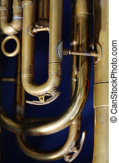 Old Baritone - Detail of an old baritone horn