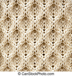 Knitted Aran wool background - A background texture of...
