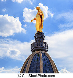 Famous Golden Statue of Virgin Mary, Lyon