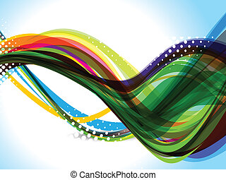abstract colorful dotted background