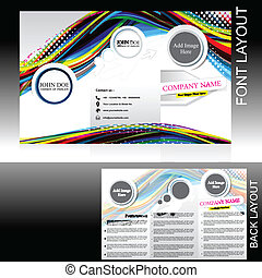 vecotr colorful wave brochure design vector illustration