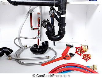Kitchen sink pipes and drain Plumbing - Kitchen sink pipes...
