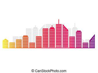 Cityscape - An abstract city skyline