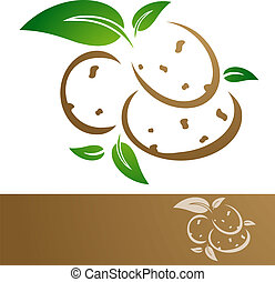 Potatoes - Potato Illustration Over White Background