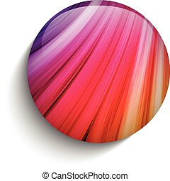 Glass Circle Button Colorful Neon Waves