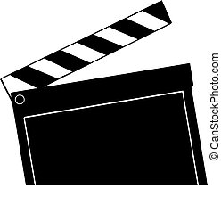 clapboard ready to snap down - movie clapboard ready to snap...