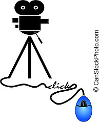 buying movies online - concept of movie downloads over the...