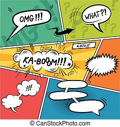Comic Strip Speech Bubbles - Comic Speech Bubbles Layered...