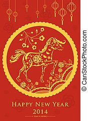 Chinese New Year design - A vector illustration of Year of...