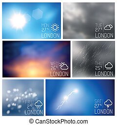 Weather Boxes Vector Set