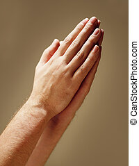 A Humble Prayer - Hands clasped in prayer