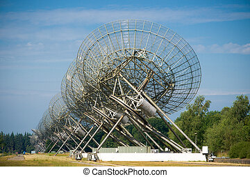 Radio Telescopes in Westerbork, the Netherlands - Radio...