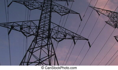 Power Lines - Two large high-voltage transmission lines from...