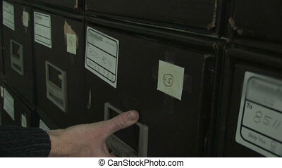 Pulling File From Cabinet