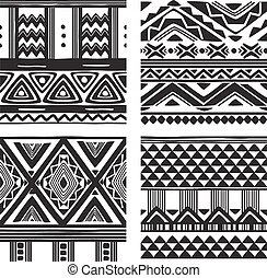 Set of tribal texture