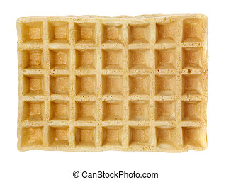 Waffle - Industrially manufactured waffle isolated on white