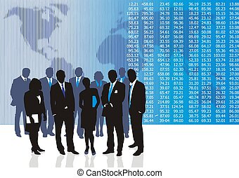 Business people - Vector illustration of business people and...