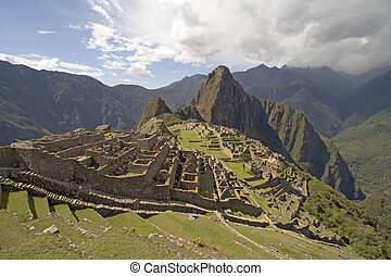 Machu Picchu located near Cusco in Peru