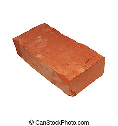 red brick isolated on white