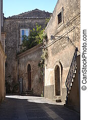 Narrow Streets of Ragusa Sicily - Typical narrow streets of...