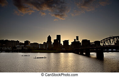 Sunset Portland Oregon