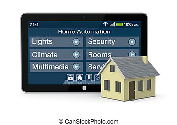 home automation - one house and tablet pc with a software...