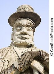 Wat Pho Temple Guard - Temple guard statue imported from...