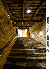 Stairs - Stony stairs to the cross.