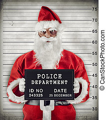 Santa Claus Mugshot - Mugshot of Santa Claus criminal under...