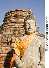 Wat Yai Chai Budddha - Buddha image at the temple of Wat Yai...