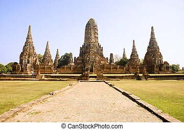 Wat Chai Wattanaram in Ayutthaya near Bangkok, Thailand