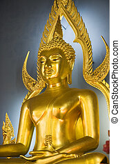 Wat Benjamabopith Buddha - Buddha image at main altar of Wat...