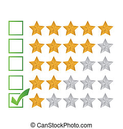 poor review rating illustration design