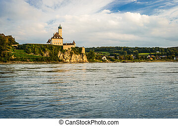 Danube river - Schonbuhel Castle on the Danube river, Wachau...