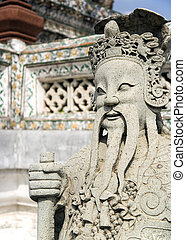 Wat Arun Guardian - Guardian statue at the temple of Wat...