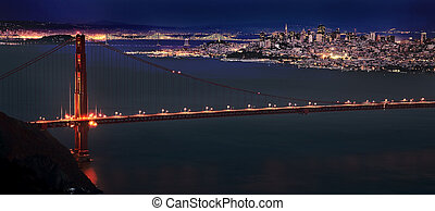 San Fransisco Skyline night shot from high viewpoint