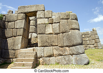 Inca Ruins - Incan ruins of Sacsayhuaman in Cusco, Peru
