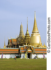 Wat Phra Kaeo - The Buddhist temple of Wat Phra Kaeo at the...