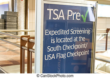 Denver International Airport - TSA Pre Check in Expedited...